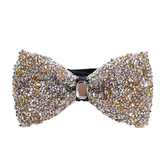 CLASSIC RHINESTONE BOW TIE (3 COLOURS) - Elnukstyles | unique affordable men's Bow Ties, Knitted Neckties, Flower Lapel Pins, Pocket Squares, Tie Clips, Cufflinks, Brooch, Toronto
