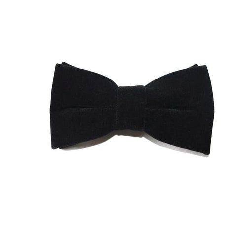 CONVENTIONAL BLACK VELVET BOW TIE - Elnukstyles | unique affordable men's Bow Ties, Knitted Neckties, Flower Lapel Pins, Pocket Squares, Tie Clips, Cufflinks, Brooch, Toronto