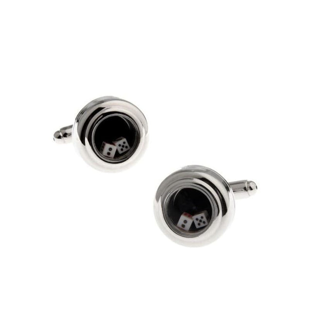 GLASS DICE CUFFLINKS - Elnuk Styles Bows N Lapel