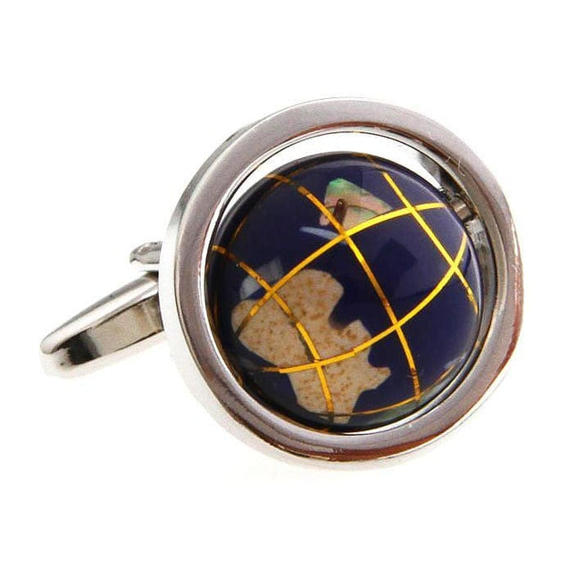 GLOBE CUFFLINKS - Elnukstyles | unique affordable men's Bow Ties, Knitted Neckties, Flower Lapel Pins, Pocket Squares, Tie Clips, Cufflinks, Brooch, Toronto