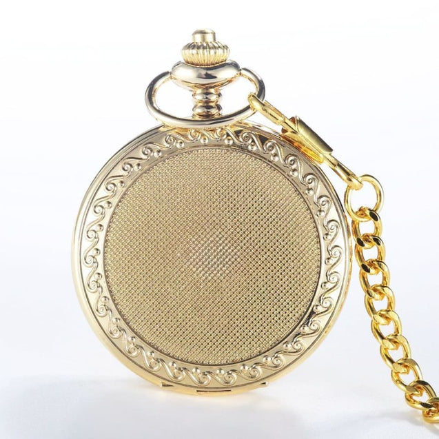 GOLD CLASSIC POCKET WATCH - Elnukstyles | unique affordable men's Bow Ties, Knitted Neckties, Flower Lapel Pins, Pocket Squares, Tie Clips, Cufflinks, Brooch, Toronto