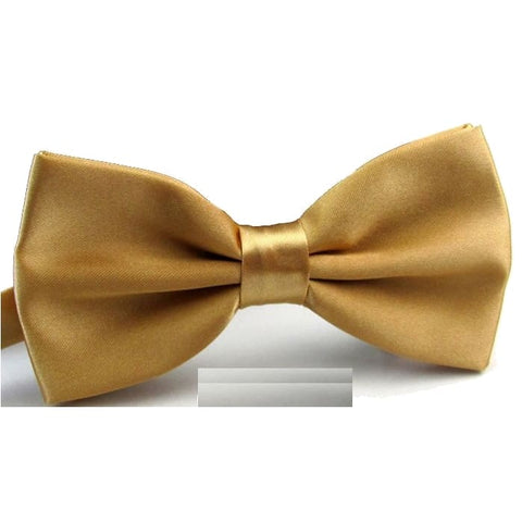 GOLD FLARE SATIN BOW TIE (WEDDINGS) - Elnukstyles | unique affordable men's Bow Ties, Knitted Neckties, Flower Lapel Pins, Pocket Squares, Tie Clips, Cufflinks, Brooch, Toronto