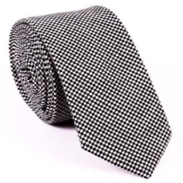 GRAY CHECKERED NECKTIE - Elnukstyles | unique affordable men's Bow Ties, Knitted Neckties, Flower Lapel Pins, Pocket Squares, Tie Clips, Cufflinks, Brooch, Toronto