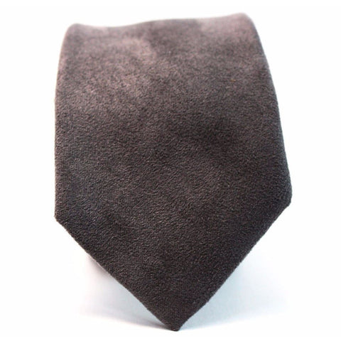 GRAY SUEDE NECKTIE - Elnukstyles | unique affordable men's Bow Ties, Knitted Neckties, Flower Lapel Pins, Pocket Squares, Tie Clips, Cufflinks, Brooch, Toronto