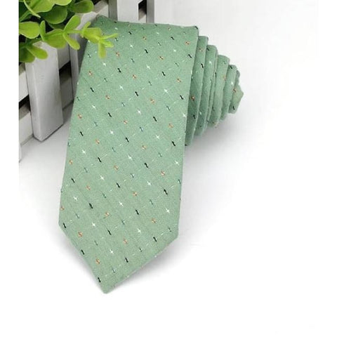 GREEN PATCH NECKTIE - Elnukstyles | unique affordable men's Bow Ties, Knitted Neckties, Flower Lapel Pins, Pocket Squares, Tie Clips, Cufflinks, Brooch, Toronto