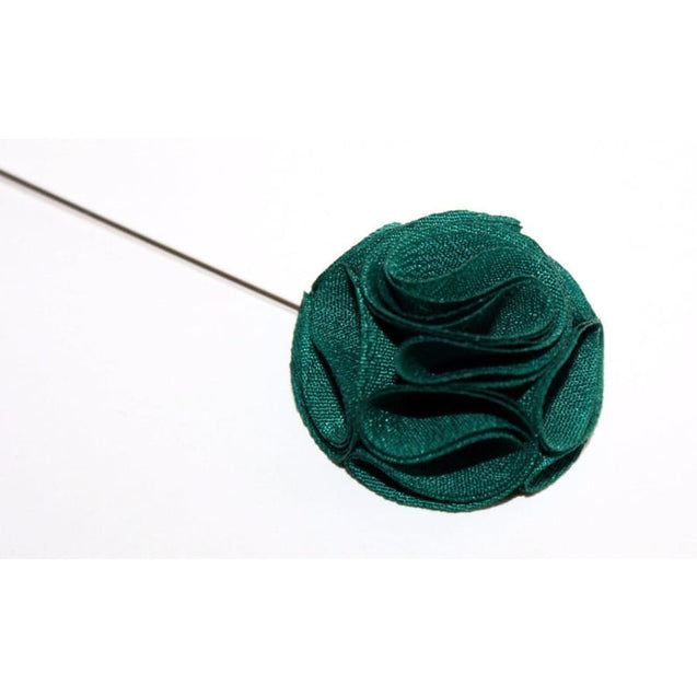 GREEN ROSE LAPEL PIN - Elnuk Styles Bows N Lapel