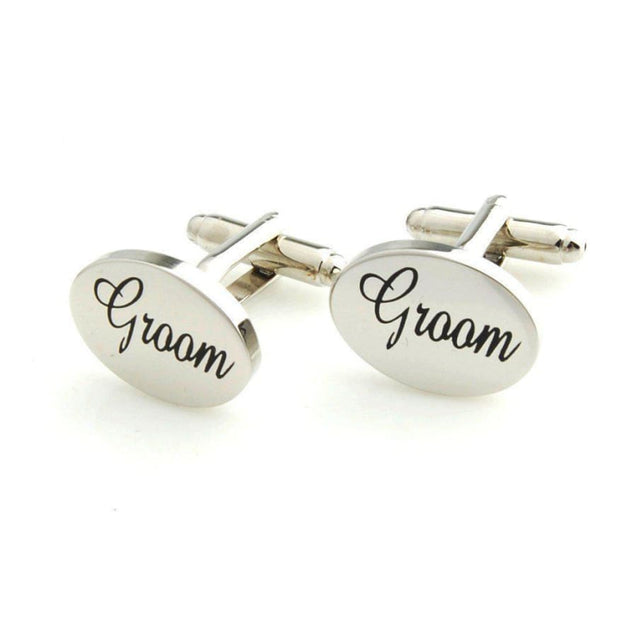 GROOMS  BESTMAN GROOMSMEN CUFFLINKS - Elnukstyles | unique affordable men's Bow Ties, Knitted Neckties, Flower Lapel Pins, Pocket Squares, Tie Clips, Cufflinks, Brooch, Toronto