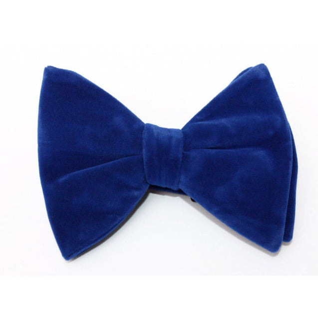 GUILT.LESS IV LARGE VINTAGE VELVET BOW TIE (ROYAL BLUE) - Elnukstyles | unique affordable men's Bow Ties, Knitted Neckties, Flower Lapel Pins, Pocket Squares, Tie Clips, Cufflinks, Brooch, Toronto