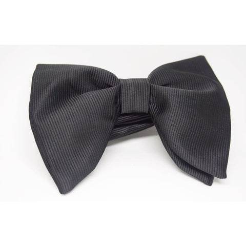 GUILT.LESS VII LARGE VINTAGE SATIN BOW TIE (BLACK) - Elnukstyles | unique affordable men's Bow Ties, Knitted Neckties, Flower Lapel Pins, Pocket Squares, Tie Clips, Cufflinks, Brooch, Toronto