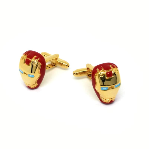 IRON MAN RED CUFFLINKS - Elnukstyles | unique affordable men's Bow Ties, Knitted Neckties, Flower Lapel Pins, Pocket Squares, Tie Clips, Cufflinks, Brooch, Toronto
