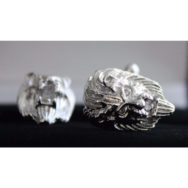 LION HEAD CUFF-LINKS - Elnukstyles | unique affordable men's Bow Ties, Knitted Neckties, Flower Lapel Pins, Pocket Squares, Tie Clips, Cufflinks, Brooch, Toronto