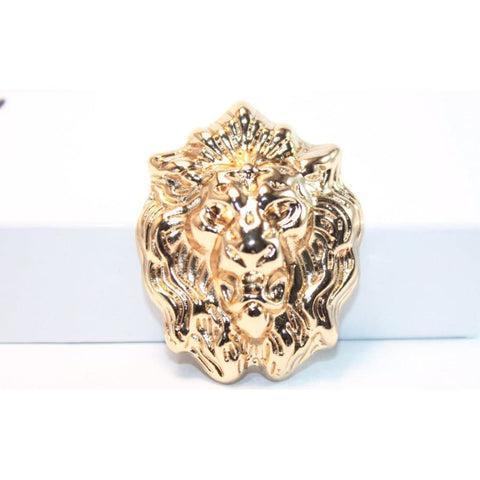 LION HEAD LAPEL PIN (GOLD & SILVER) - Elnukstyles | unique affordable men's Bow Ties, Knitted Neckties, Flower Lapel Pins, Pocket Squares, Tie Clips, Cufflinks, Brooch, Toronto