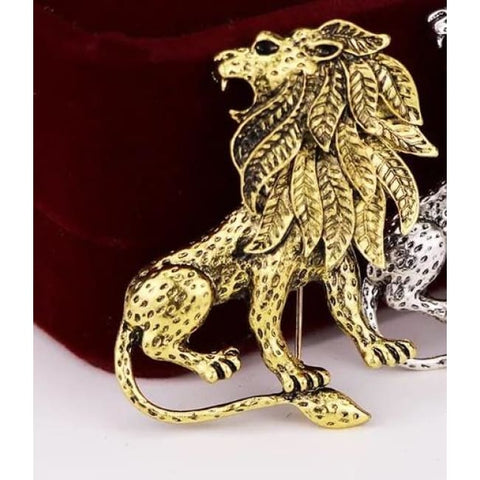 LION LAPEL PIN - Elnukstyles | unique affordable men's Bow Ties, Knitted Neckties, Flower Lapel Pins, Pocket Squares, Tie Clips, Cufflinks, Brooch, Toronto