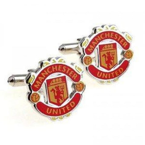 MANCHESTER UNITED CUFFLINKS - Elnukstyles | unique affordable men's Bow Ties, Knitted Neckties, Flower Lapel Pins, Pocket Squares, Tie Clips, Cufflinks, Brooch, Toronto