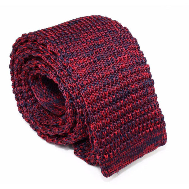 MAROON MULTI-MODE KNITTED NECKTIE (BURGUNDY) - Elnukstyles | unique affordable men's Bow Ties, Knitted Neckties, Flower Lapel Pins, Pocket Squares, Tie Clips, Cufflinks, Brooch, Toronto