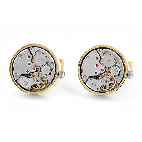 MECHANICAL MOVEMENT TOURBILLION SKELETON CUFFLINKS  - NEWTON II - Elnukstyles | unique affordable men's Bow Ties, Knitted Neckties, Flower Lapel Pins, Pocket Squares, Tie Clips, Cufflinks, Brooch, Toronto