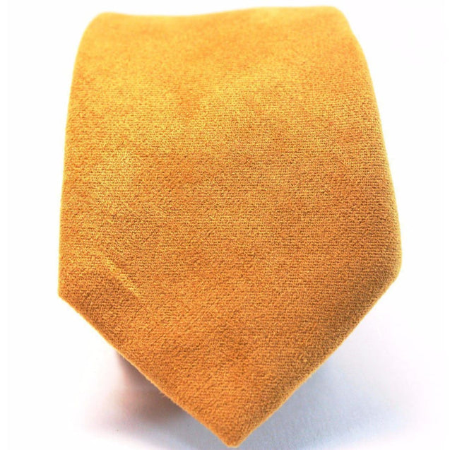MUSTARD YELLOW SUEDE TIE - Elnukstyles | unique affordable men's Bow Ties, Knitted Neckties, Flower Lapel Pins, Pocket Squares, Tie Clips, Cufflinks, Brooch, Toronto