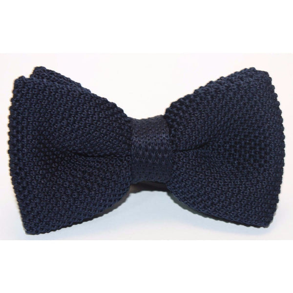 NAVY BLUE KNITTED BOW TIE - Elnukstyles | unique affordable men's Bow Ties, Knitted Neckties, Flower Lapel Pins, Pocket Squares, Tie Clips, Cufflinks, Brooch, Toronto