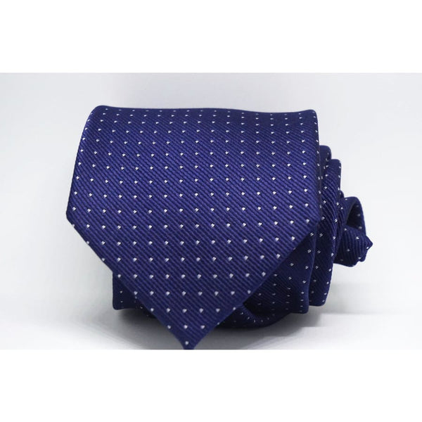 NAVY BLUE POLKA DOT NECKTIE - Elnukstyles | unique affordable men's Bow Ties, Knitted Neckties, Flower Lapel Pins, Pocket Squares, Tie Clips, Cufflinks, Brooch, Toronto