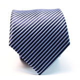 NAVY BLUE STRIPES NECKTIE - Elnukstyles | unique affordable men's Bow Ties, Knitted Neckties, Flower Lapel Pins, Pocket Squares, Tie Clips, Cufflinks, Brooch, Toronto