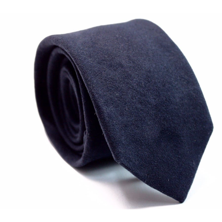 5d11221899f4 NAVY BLUE SUEDE TIE - Elnukstyles   unique affordable men's Bow Ties,  Knitted Neckties,