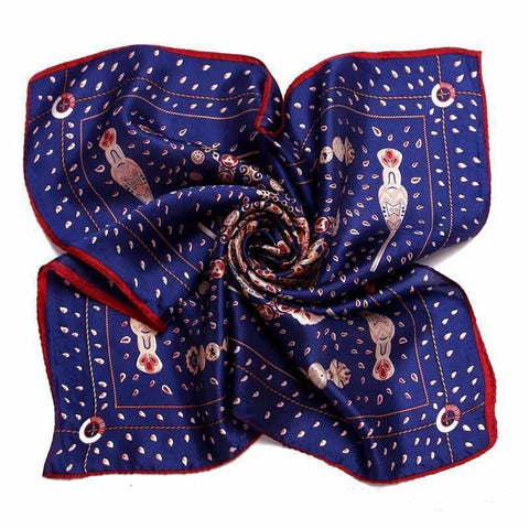 NAVY RED SILK POCKET SQUARE - Elnukstyles | unique affordable men's Bow Ties, Knitted Neckties, Flower Lapel Pins, Pocket Squares, Tie Clips, Cufflinks, Brooch, Toronto