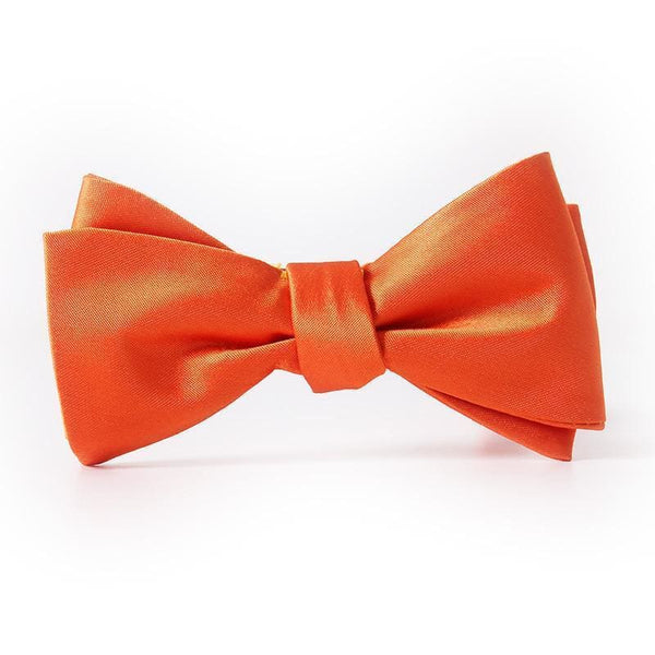 ORANGE FLARE SATIN BOW TIE (WEDDINGS) - Elnukstyles | unique affordable men's Bow Ties, Knitted Neckties, Flower Lapel Pins, Pocket Squares, Tie Clips, Cufflinks, Brooch, Toronto
