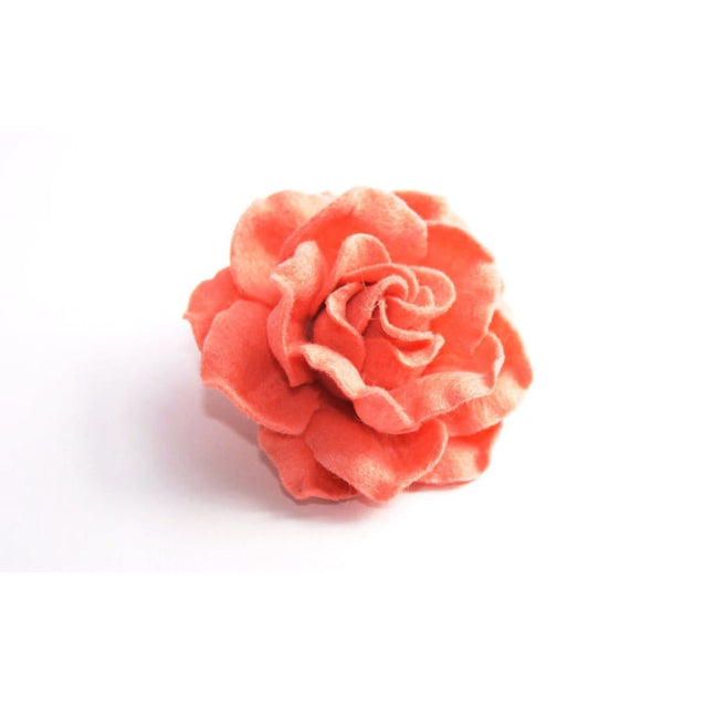 PEACH FLOWER LAPEL PIN (LARGE) - Elnukstyles | unique affordable men's Bow Ties, Knitted Neckties, Flower Lapel Pins, Pocket Squares, Tie Clips, Cufflinks, Brooch, Toronto