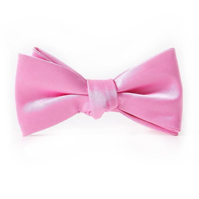 PINK FLARE SATIN BOW TIE (WEDDINGS) - Elnukstyles | unique affordable men's Bow Ties, Knitted Neckties, Flower Lapel Pins, Pocket Squares, Tie Clips, Cufflinks, Brooch, Toronto