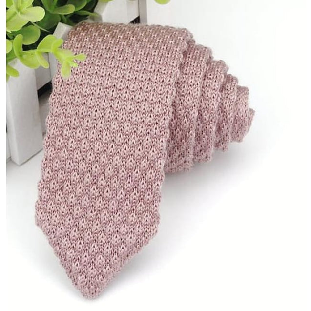 PINK KNITTED TIE - Elnukstyles | unique affordable men's Bow Ties, Knitted Neckties, Flower Lapel Pins, Pocket Squares, Tie Clips, Cufflinks, Brooch, Toronto