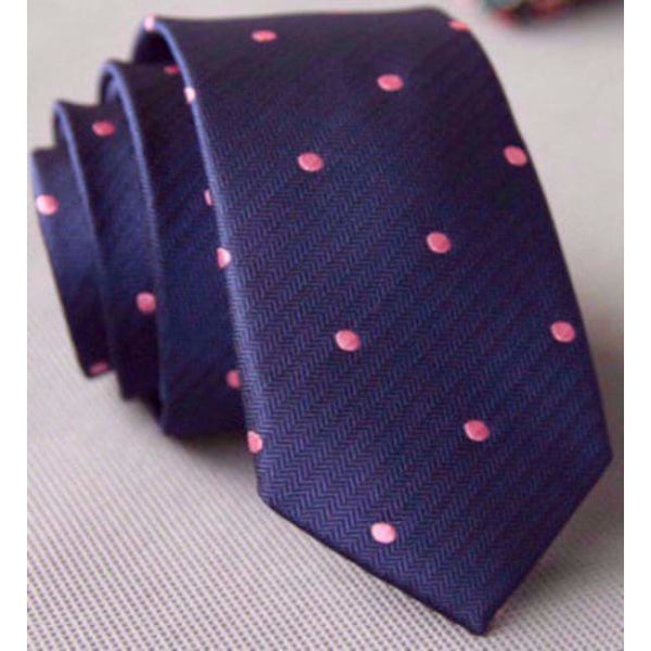 PINK POLKA NECKTIE - Elnukstyles | unique affordable men's Bow Ties, Knitted Neckties, Flower Lapel Pins, Pocket Squares, Tie Clips, Cufflinks, Brooch, Toronto