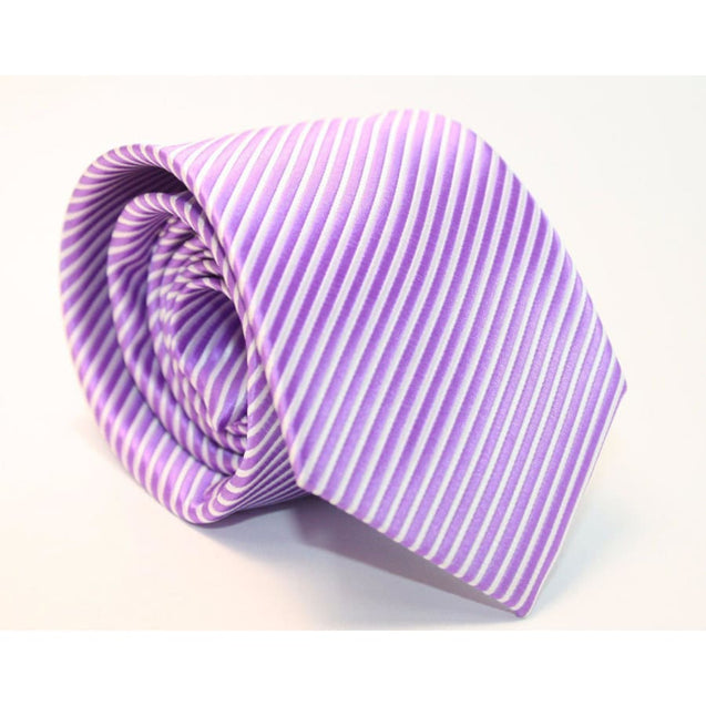 PURPLE STRIPES NECKTIE - Elnukstyles | unique affordable men's Bow Ties, Knitted Neckties, Flower Lapel Pins, Pocket Squares, Tie Clips, Cufflinks, Brooch, Toronto
