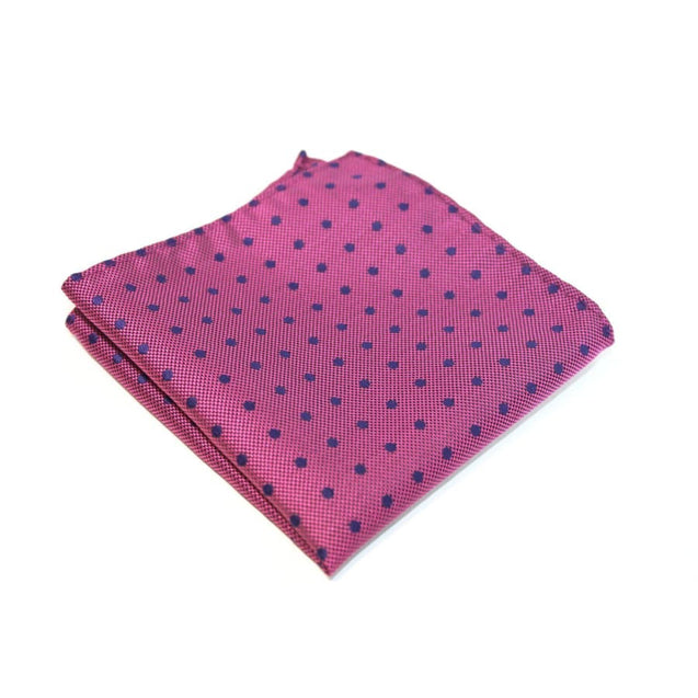 PURPLE WITH BLUE DOT TWILL POCKET SQUARE - Elnuk Styles Bows N Lapel