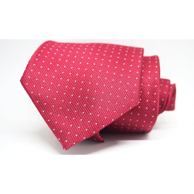 RED POLKA DOT NECKTIE - Elnukstyles | unique affordable men's Bow Ties, Knitted Neckties, Flower Lapel Pins, Pocket Squares, Tie Clips, Cufflinks, Brooch, Toronto
