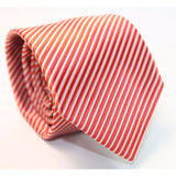 RED STRIPES NECKTIE - Elnukstyles | unique affordable men's Bow Ties, Knitted Neckties, Flower Lapel Pins, Pocket Squares, Tie Clips, Cufflinks, Brooch, Toronto