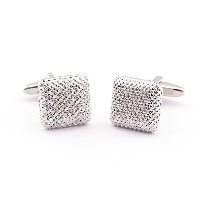 SQUARE MESH CUFFLINKS - Elnukstyles | unique affordable men's Bow Ties, Knitted Neckties, Flower Lapel Pins, Pocket Squares, Tie Clips, Cufflinks, Brooch, Toronto