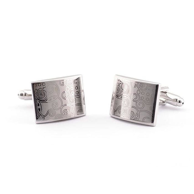 SQUARE SCRIBBLE CUFFLINKS - Elnukstyles | unique affordable men's Bow Ties, Knitted Neckties, Flower Lapel Pins, Pocket Squares, Tie Clips, Cufflinks, Brooch, Toronto