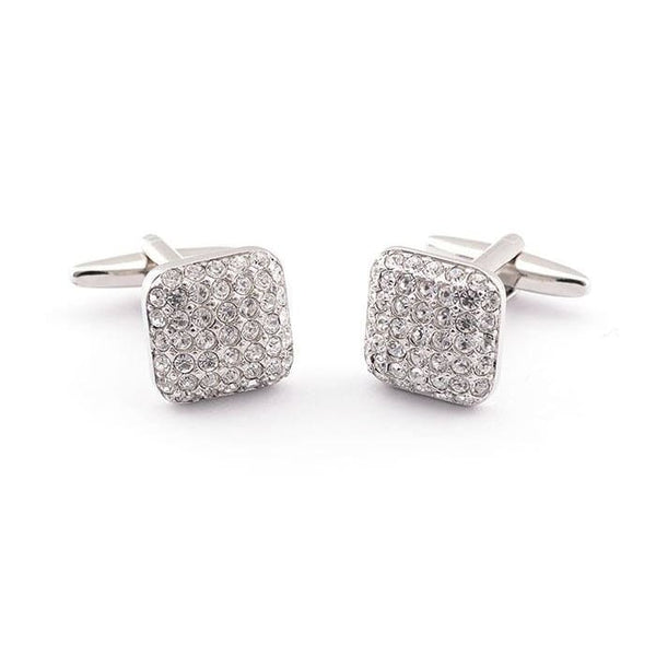 SQUARE STONES CUFFLINKS - Elnukstyles | unique affordable men's Bow Ties, Knitted Neckties, Flower Lapel Pins, Pocket Squares, Tie Clips, Cufflinks, Brooch, Toronto