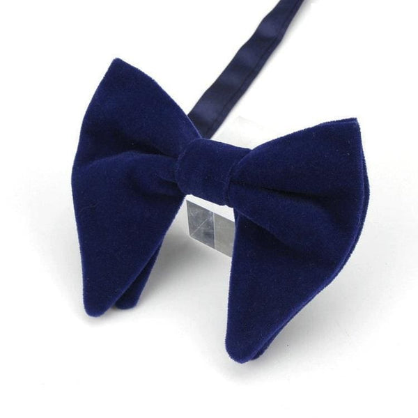 TEAR DROP VELVET BOW TIE (LARGE) - Elnukstyles | unique affordable men's Bow Ties, Knitted Neckties, Flower Lapel Pins, Pocket Squares, Tie Clips, Cufflinks, Brooch, Toronto