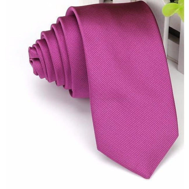 WEDDING - FUCHSIA NECKTIE (6CM) - Elnukstyles | unique affordable men's Bow Ties, Knitted Neckties, Flower Lapel Pins, Pocket Squares, Tie Clips, Cufflinks, Brooch, Toronto