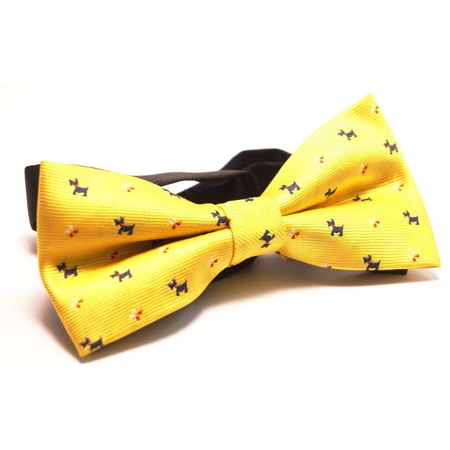 YELLOW PUPPY SATIN BOW TIE - Elnuk Styles Bows N Lapel