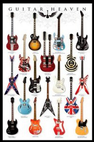 Guitar Heaven, Music Poster High Quality Print Size 50x75cm