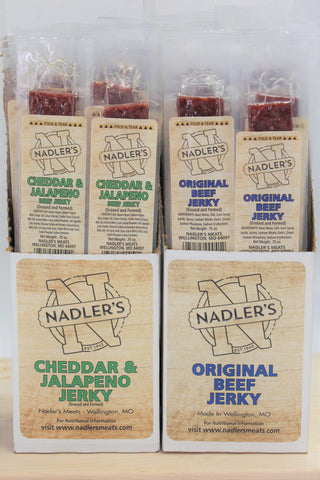 Nadler's Meats Beef Jerky Strips Variety Pack