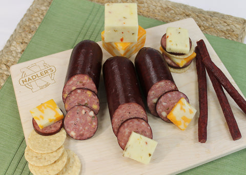 Nadler's Meats A Bit of Everything (Summer Sausage, Beef Sticks, and Cheese Box)