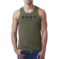 Men's R*I*S*E Army Green Tank