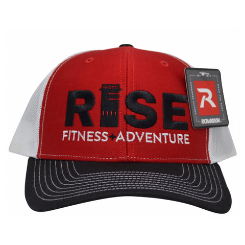 RISE Trucker Hat - Red Face