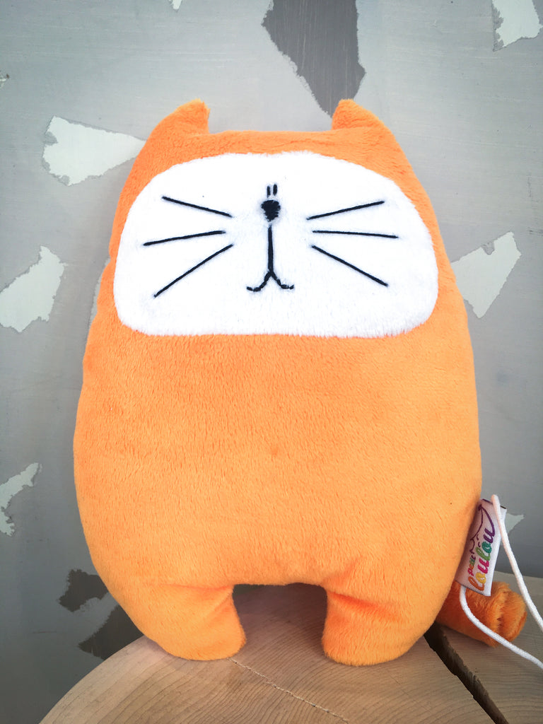 Peluche Chat orange - Petit Loulou