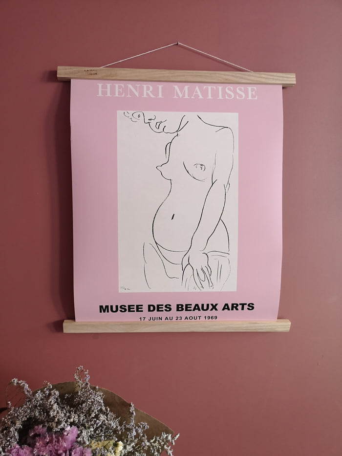 Illustration Matisse rose - The Printable Concept