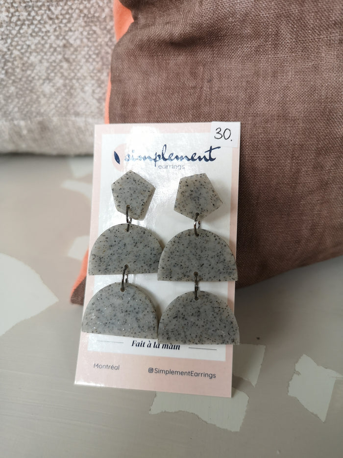 "Boucles d'oreilles ""Granit"" - Simplement earrings"