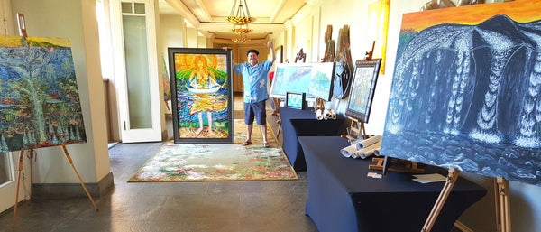 Podge Elvenstar, Hawaii Visionary Art, Ritz Carlton Kapalua, Maui